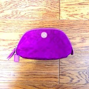 Authentic Coach Purple Mini Pouch
